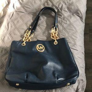 Navy blue Michael Kors shoulder bag